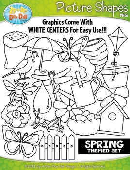 Spring Picture Shapes Clipart {Zip-A-Dee-Doo-Dah Designs}
