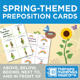 Spring-Themed Preposition Cards! Target: Above, Below, Nex