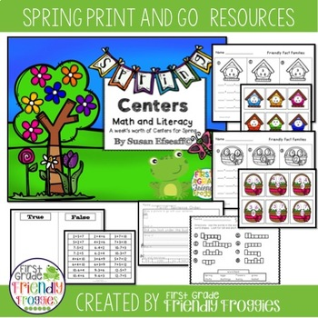 Print and Go Worksheets - Spring theme
