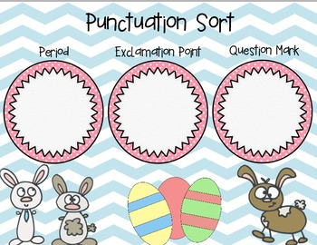 Spring Themed Punctuation Sort (Periods, Questions Marks, Exclamation Points)