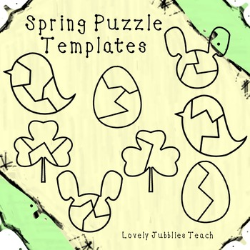 Spring Themed Puzzle Templates