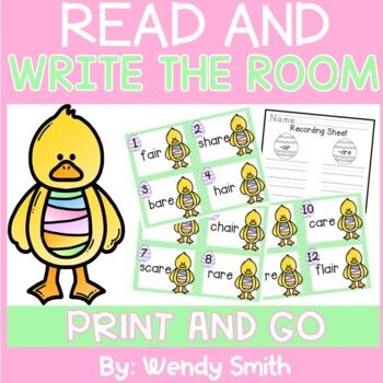 Spring Themed Read and Write the Room {R-controlled Vowels