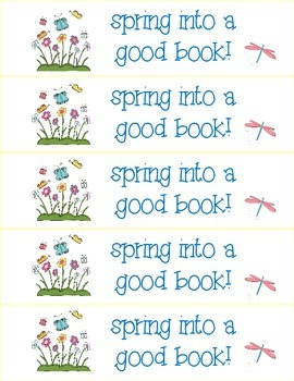 Spring Themed Reading Bookmarks and Posters