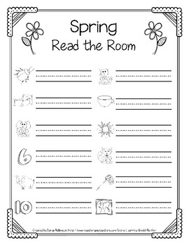 Spring Themed: Reading CVC Words Around the Room
