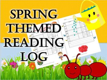 Spring Themed Reading Log that Reinforces Genres & Literary Elements