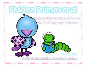 Spring Themed Repeated Reading Task Cards en Español