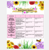 Spring Themed Rubric