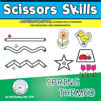 Fine Motor Spring Themed Scissors Skills Activities