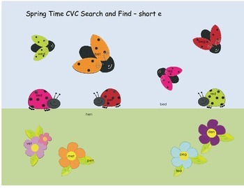 Spring Themed Search and Find CVC