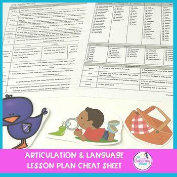 Spring Themed Sensory Bin Companion For Speech & Language