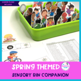 Spring Themed Sensory Bin Companion For Speech & Language