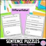 Sentence Puzzles {Spring Themes Edition} Distance Learning Packet