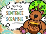 Spring Themed Sentence Scramble {FREEBIE}