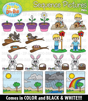 Spring Sequence Action Pictures Clipart {Zip-A-Dee-Doo-Dah Designs}