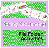Spring Themed Sequencing File Folder Activities