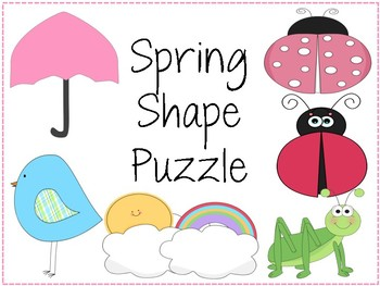 Spring Themed Shape and Shape Names Puzzle PACK