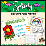 Spring Themed Sight Word Puzzles 48 Words