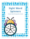 Spring Themed Kindergarten Sight Word Spinner Center