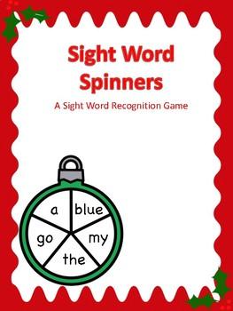 Spring Themed Sight Word Spinner Center Sampler