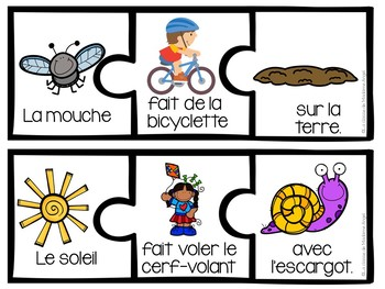 Le printemps:  French Spring Themed Silly Sentence Building Cards
