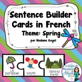 Spring Themed Silly Sentence Builders in French! - Le printemps
