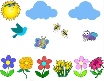 Spring Themed Smartboard Review Game Template
