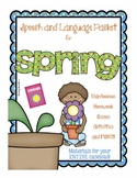 Spring Themed Speech and Language Packet