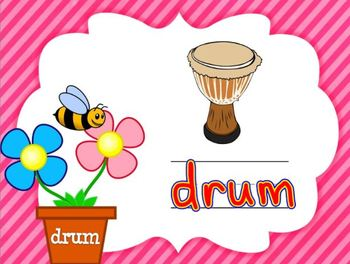 Spring Themed Spelling CCVC Words for Smartboard or Promethean Board!
