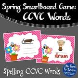 Spring Beginning Blend Game: Spelling CCVC Words (Smartboard/Promethean Board)