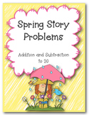 Spring Themed Word Problem Booklet- Common Core