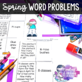 Spring Story Problems with Single & Double Digit Addition and Subtraction