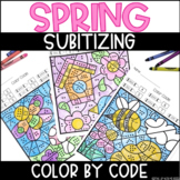 Spring Subitizing | No Prep Color By Number Activities