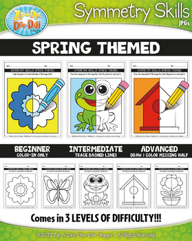 Spring Symmetry Skill Activity Pack {Zip-A-Dee-Doo-Dah Designs}