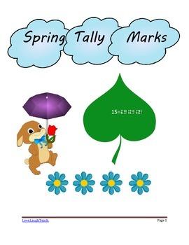 Spring Themed Tally Marks Workbook