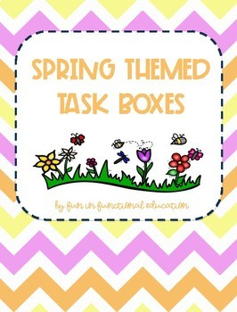 Spring Themed Task Box Set- 8 Unique Task Boxes for Practicing Basic Skills!