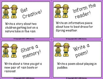 Spring Themed Task Cards-For Writing