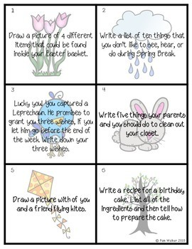 Spring Themed Task Cards for Primary Language Arts