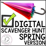 Spring Themed Teletherapy Language Digital Scavenger Hunt