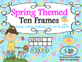 Spring Themed Ten Frames Activity from 1-20