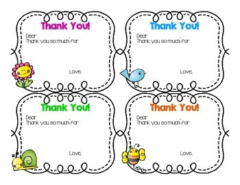 Spring Themed Thank You Cards