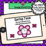 Spring Themed Time To The Hour And Half Hour Activities For GOOGLE CLASSROOM