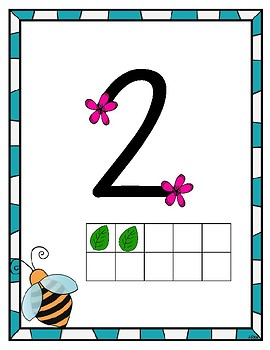 Spring Themed Touch Math Posters