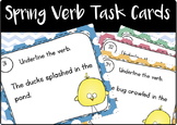 Spring-Themed Verb Task Cards