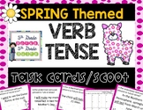 Spring Themed Verb Tense Task Cards or Scoot