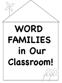 Spring Themed Word Family Posters! (Black and White)