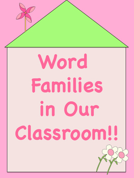 Spring Themed Word Family Posters in Colour!