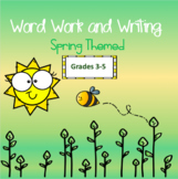 Spring Themed Word Work and Writing Task Cards - Intermediate