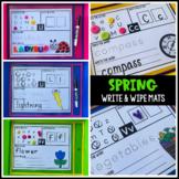 Spring Themed Write & Wipe Alphabet Mats