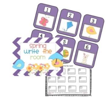 Spring Themed Write the Room!!