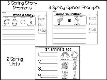 Spring Themed Writing Center -Kindergarten/ 1st Grade